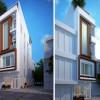 Thiết kế nhà phố 2 mặt tiền tiện nghi hiện đại