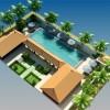 Thiết kế khách sạn có bể bơi sang trọng hiện đại