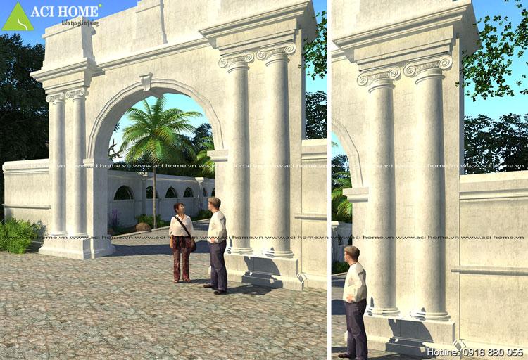 kiến trúc họa tiết cổng biệt thự Pháp