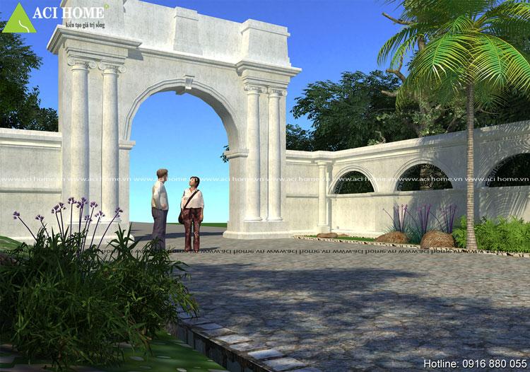 Thiết kế cổng dinh thự kiểu Pháp