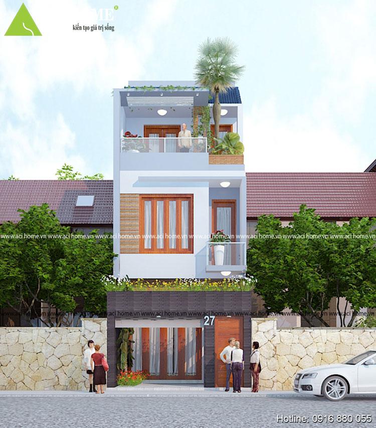 mặt tiền căn nhà phố