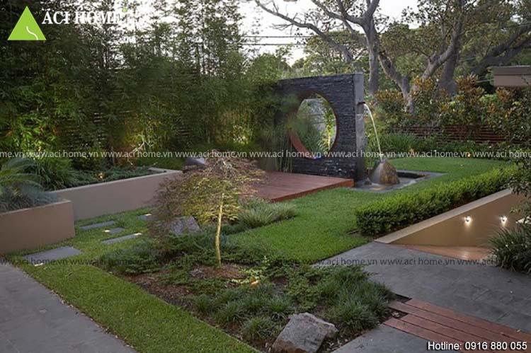 Phong thủy trong thiết kế biệt thự sân vườn