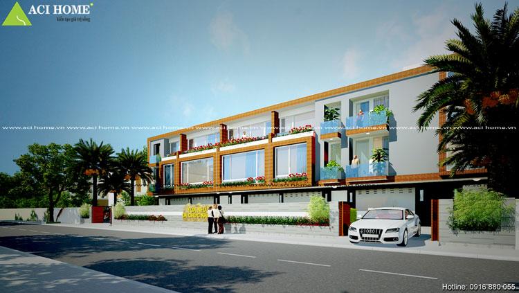 Vẻ đẹp thiết kế nhà phố liền kề