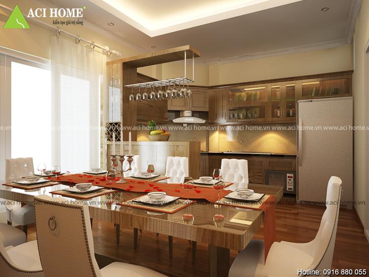 Thiết kế phòng ăn đẹp mắt