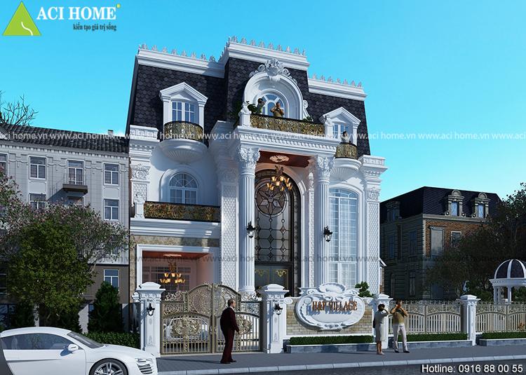 Thiết kế biệt thự kiểu Pháp 3 tầng - 190 m2 - bề thế và sang trọng - View 5