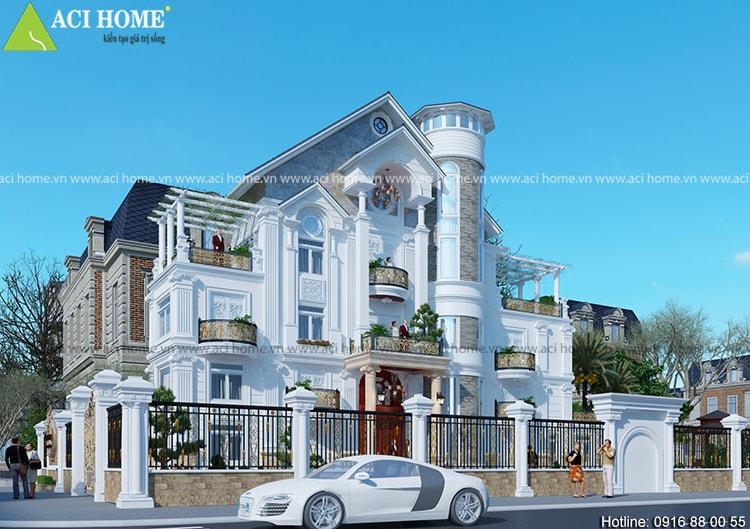 Ý tưởng thiết kế biệt thự cổ điển chuyển nghiệp - 214311