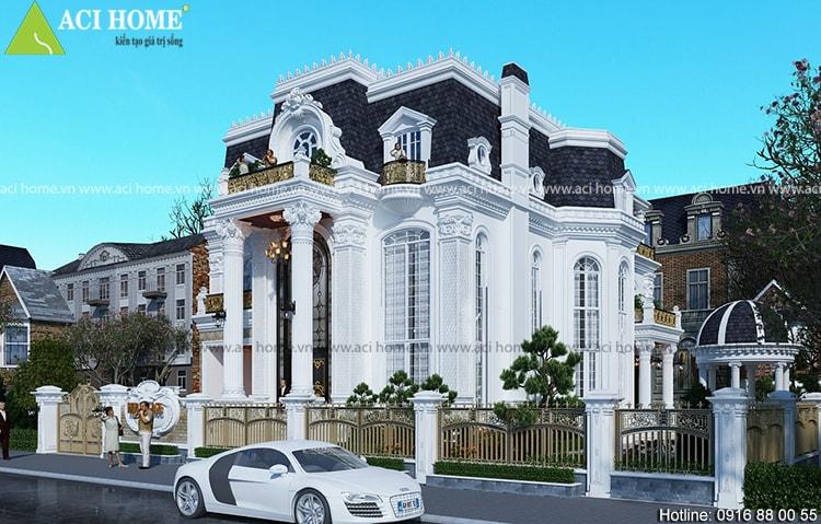 Ý tưởng thiết kế biệt thự cổ điển chuyển nghiệp - 214310