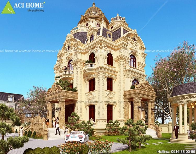 Ý tưởng thiết kế biệt thự cổ điển chuyển nghiệp - 214308