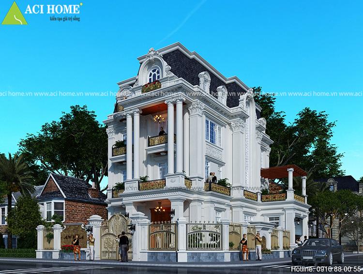 Classic: Villa design ideas 2018 Thiet-ke-biet-thu-kieu-phap-tai-bao-loc-lam-dong-dep-diem-le-1