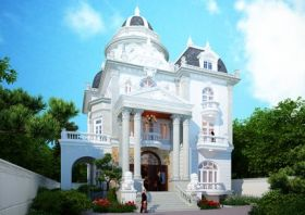 Ấn tượng biệt thự lâu đài 3 tầng kiến trúc Pháp