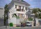 Thiết kế biệt thự 3 tầng kiểu Pháp cực đẹp giữa thành thị