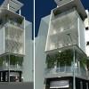 Thiết kế nhà phố 2 mặt tiền phong cách hiện đại