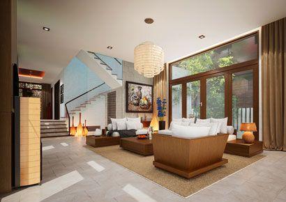 Thiết kế nội thất biệt thự hiện đại Xanh Villa