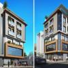 Thiết kế nhà ở kết hợp văn phòng hiện đại 2 mặt tiền