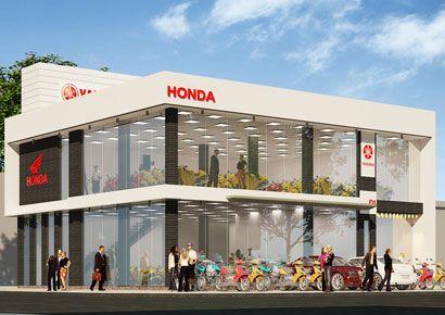 Thiết kế Showroom xe máy tại Ninh Bình