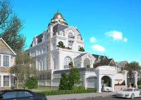 Thiết kế biệt thự cổ điển 3,5 tầng kiểu Pháp tại Sài Gòn