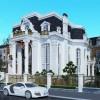 Thiết kế biệt thự kiểu Pháp 3 tầng bề thế và sang trọng từng không gian