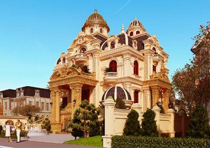 Thiết kế biệt thự kiểu Pháp tại Đắc Lắc đẹp như lâu đài cổ tích