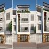 Thiết kế nhà phố hiện đại 5m mặt tiền trên đường Giải Phóng – Hà Nội