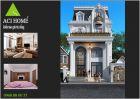 Thiết kế nhà biệt thự phố kiểu Pháp đẹp tinh khôi tại Hải Dương