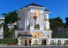 Tư vấn thiết kế biệt thự tân cổ điển 3 tầng 1 tum sang trọng tại Lạng Sơn
