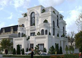 Thiết kế biệt thự kiểu Pháp khang trang bề thế 3,5 tầng tại Lạng Sơn