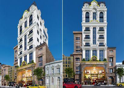 Giải pháp thiết kế khách sạn mặt tiền 8-10-12-15m có sức hút với du khách
