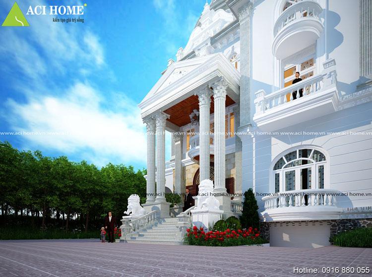 Biệt thự kiểu Pháp 3 tầng phong cách Pháp