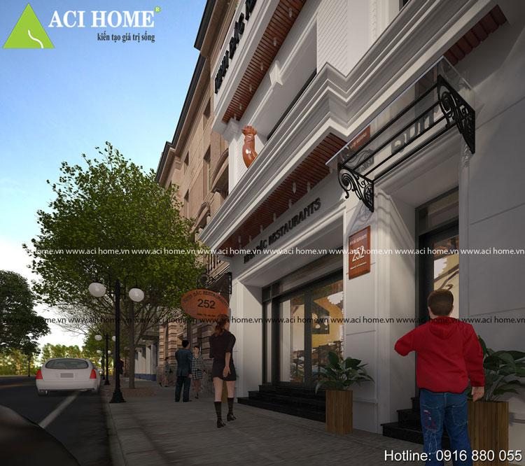 Thiết kế nhà hàng kiến trúc Pháp