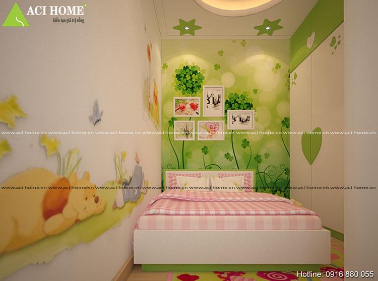 Chi tiết nội thất phong ngủ nhà phố