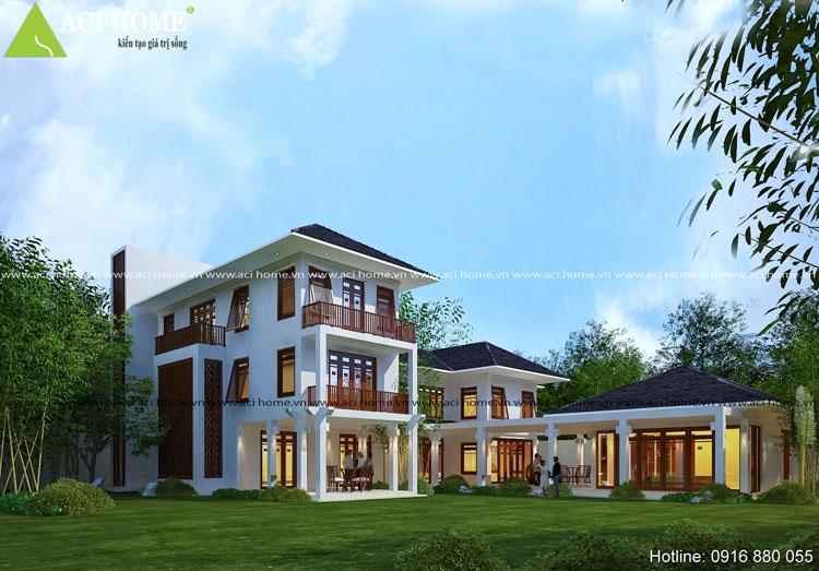 thiết kế biệt thự Á Đông