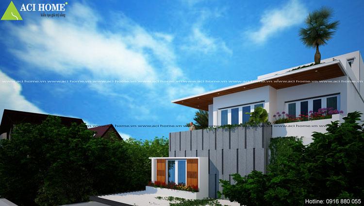 thiết kế hiện đại biệt thự phố kiểu Pháp