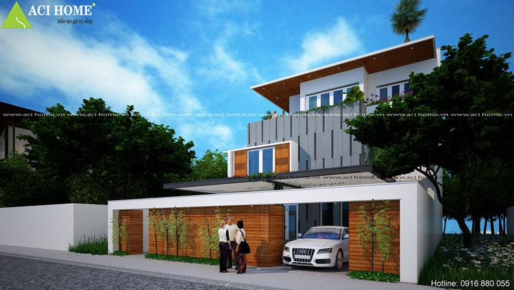Biệt thự 3 tầng với thiết kế ấn tượng