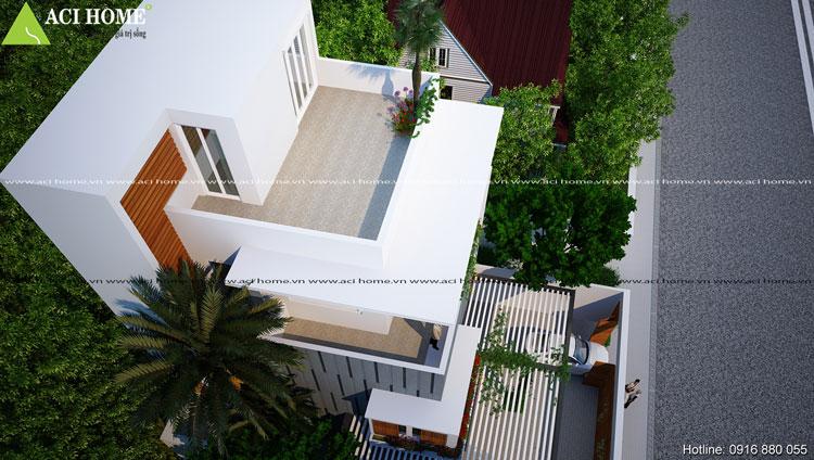 biệt thự vươn - biệt thự phố 3 tầng hiện đại