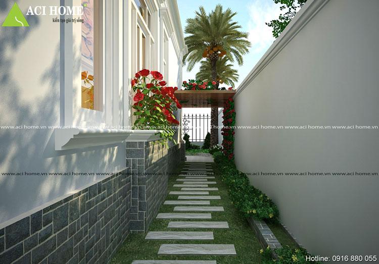 Biệt thự vườn kiểu Pháp ấn tượng