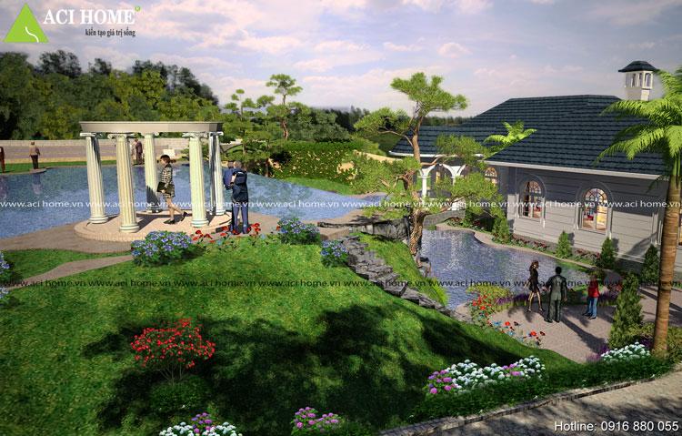 biệt thự vườn theo phong thủy