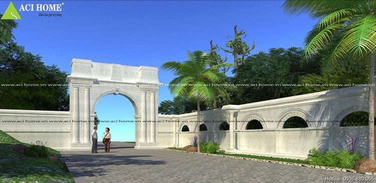 Dinh thự kiểu Pháp - Thiết kế cổng dinh thự