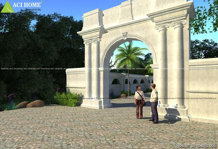 Cổng dinh thự kiểu Pháp cực đẹp