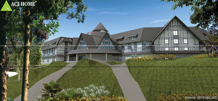Thiết kế khách sạn 4 sao sang trọng