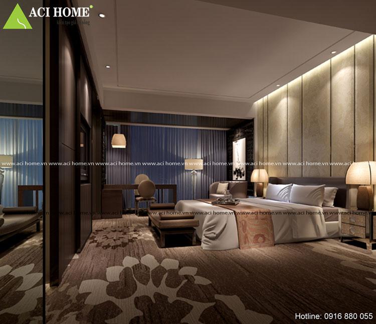 Kiến trúc phòng ngủ nội thất Á Đông