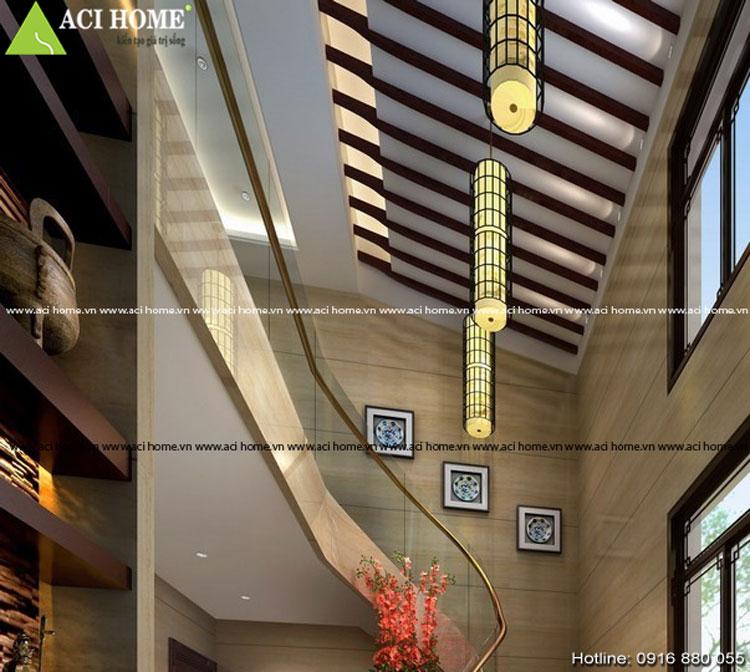 Thiết kế nội thất cầu thang Á Đông