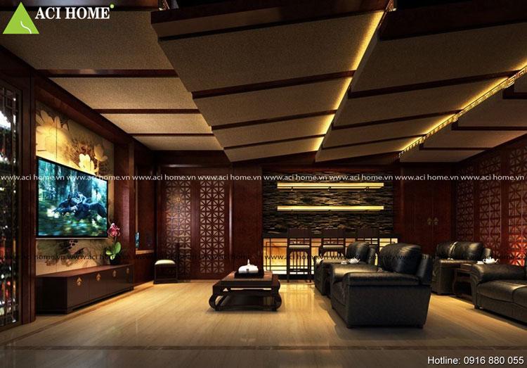 phòng khách nội thất Á Đông