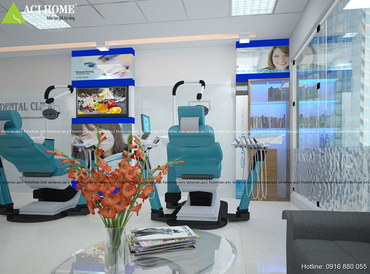 Sáng tạo phong cách thiết kế nội thất phòng khám