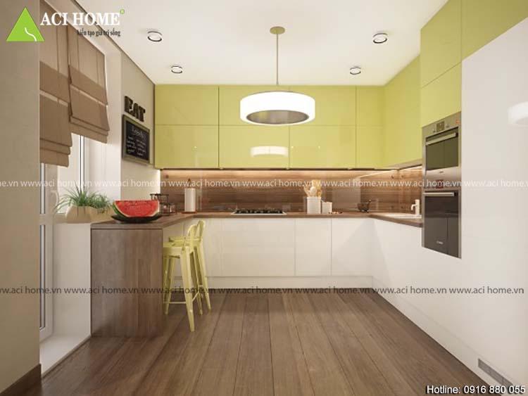 Thiết kế bếp theo phong thủy đẹp
