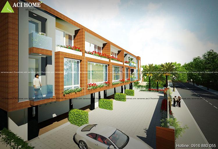 Ấn tượng thiết kế nhà phố liền kề