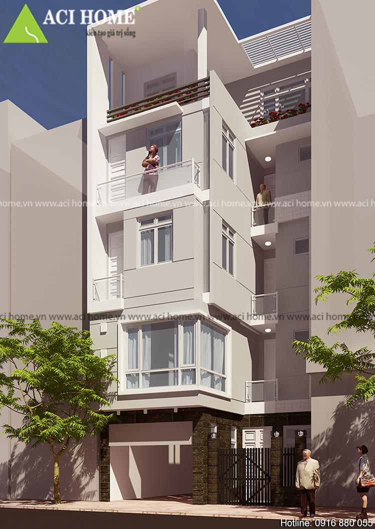 thiết kế - cải tạo nhà phố 5 tầng