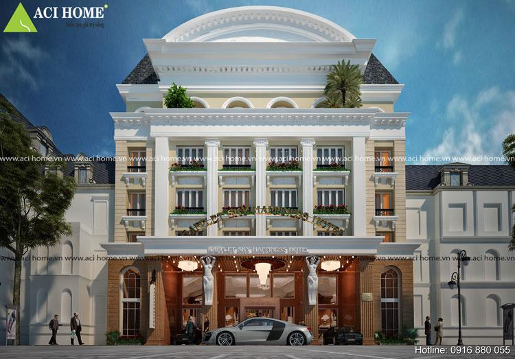 Thiết kế ấn tượng khách sạn kiểu Pháp