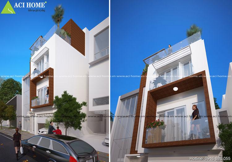 Những góc nhìn thiết kế nhà phố 3 tầng Đông Anh