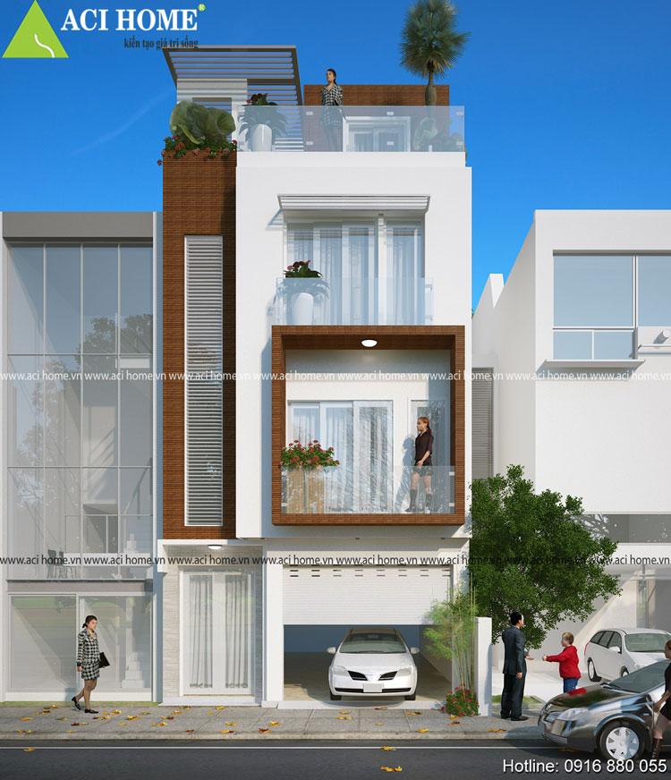 Trực diện thiết kế nhà phố 3 tầng