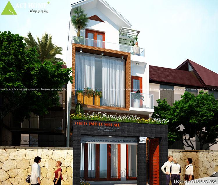 Sang trọng thiết kế nhà phố 3 tầng tại Thái Bình